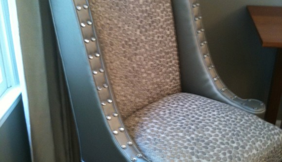 Hostess Chair W Crystal Nailheads