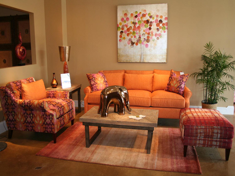 Tangerine Paint Color tangerine in home decor | how to use orange in interior decorating