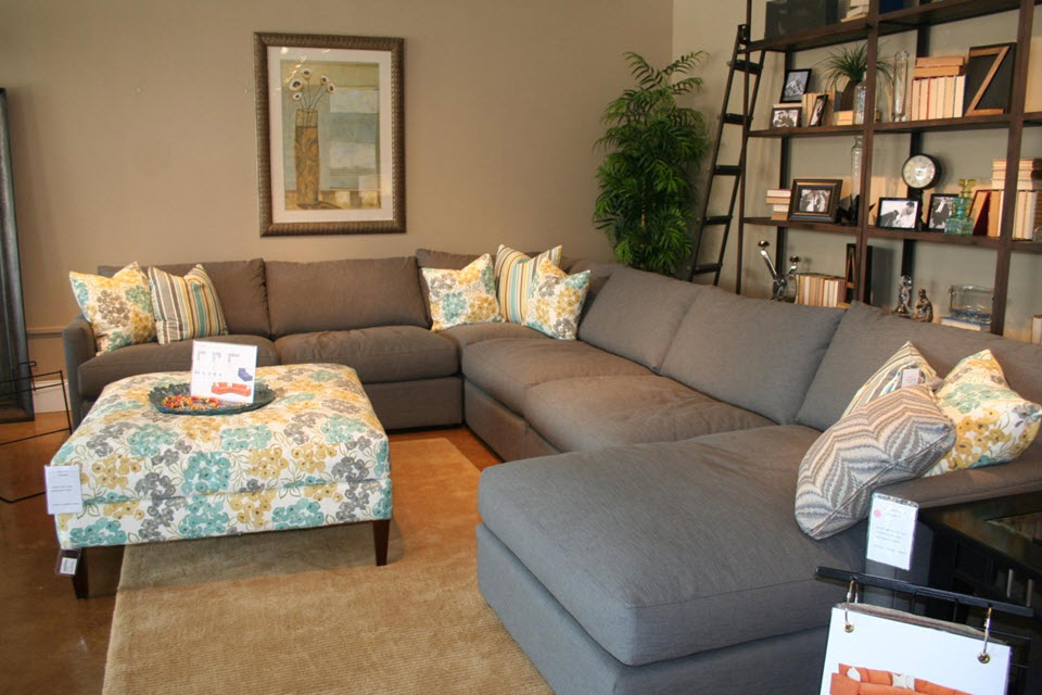 Cool Gray Couch Decorating Den Marina Colella